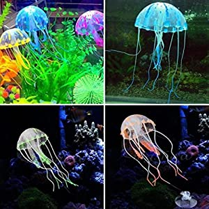 SRI Happie Shop Aquarium Underwater Glowing Effect Multicolour Jelly Fish (Big, 7 Inch In Length)