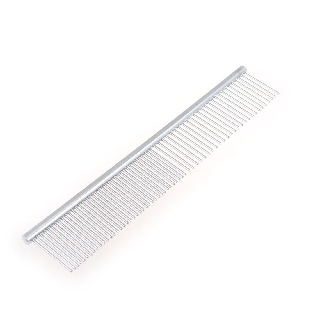 Uxcell Pet Beauty Tool Metal Grooming Rake Comb, Silver Tone a13040900ux0045