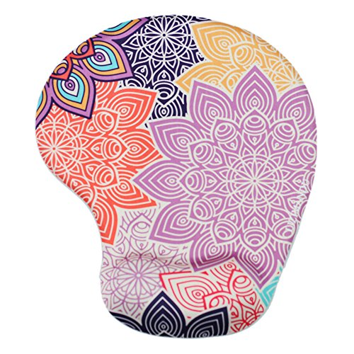 Lizimandu Non Slip Mouse Pad Wrist Rest For Office, Computer, Laptop & Mac - Durable & Comfortable & Lightweight For Easy Typing & Pain Relief-Ergonomic Support(Colorful Flower)