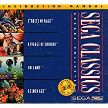 Sega Classics Arcade Collection - Streets of Rage-Revenge of Shinobi-Columns-Golden Axe Genesis Instruction Booklet (SEGA GENESIS MANUAL ONLY - NO GAME) Pamphlet - NO GAME INCLUDED
