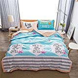 Uther Cotton Bed Quilt, Thin Comforter for Summer or Spring, Summer Quilt, Cute Flamingos Pattern Quilt, King Size
