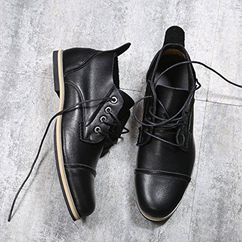 de Men Bottes Leather Chukka TUOKing Noir Bottes décontractées Chaussures désert qSwagWft