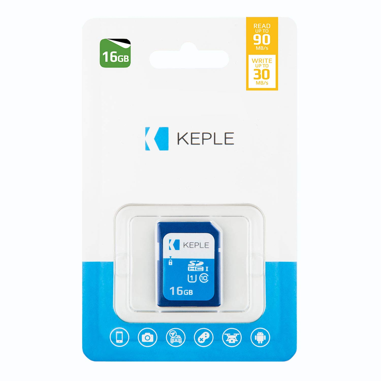 Keple Scheda di Memoria SD da 16 GB Scheda SD ad Alta velocit/à per Nikon Coolpix S6500 S5300 SLR Digital Camera S5200 S3600 16 GB Storage SDCard Class 10 UHS-1 U1 SDHC Card S9500 S3500
