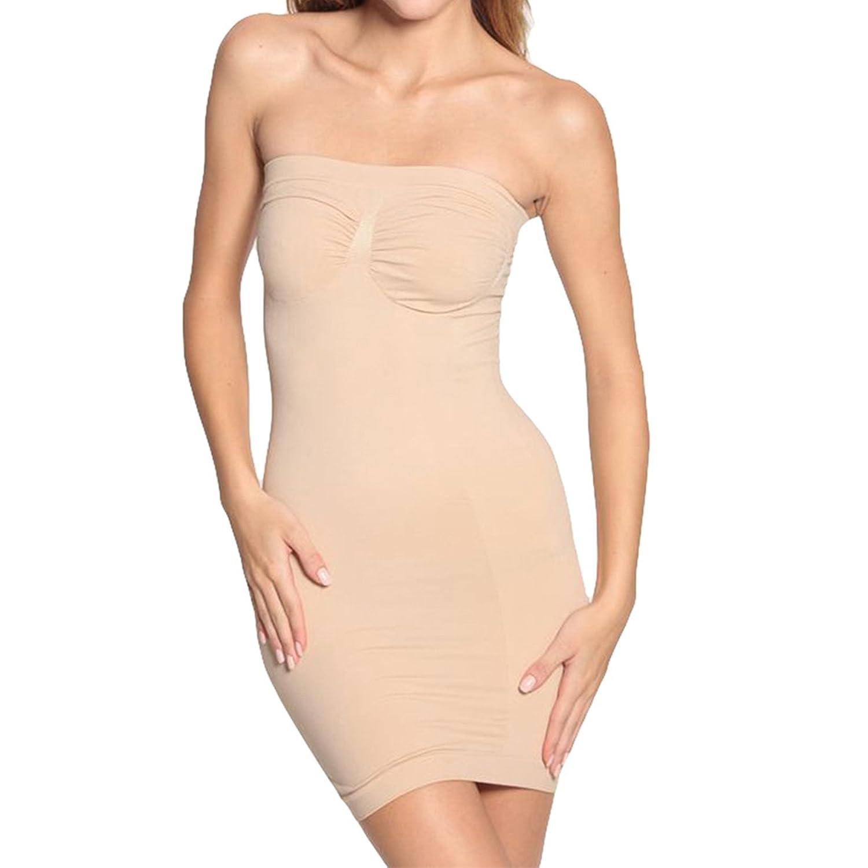 Shymay Women's Full Body Slip Shaper Seamless Slimming Tube Shapewear Dress