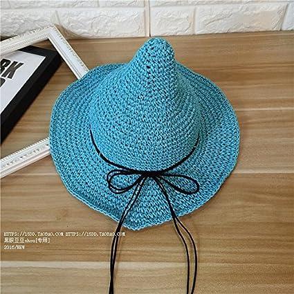 KWXHG Lazos Sombrero de Paja Chupete Hembra Sombrero ...