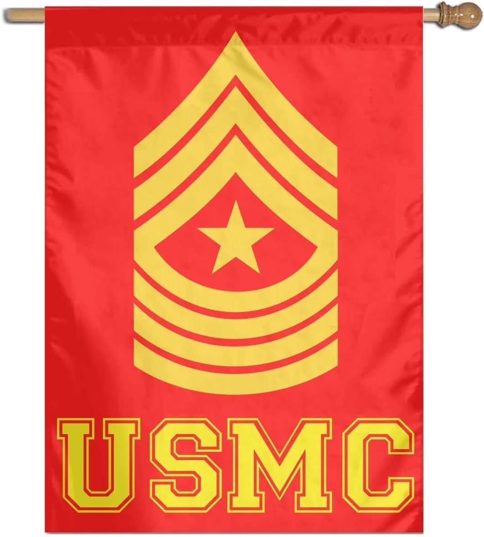 NEWPAI Hello Summer Funny Small Garden Flag Vertical Double Sided Polyester Yard Outdoor Decor 12 x 18 Inches USMC Sergeant Major E9 SGM