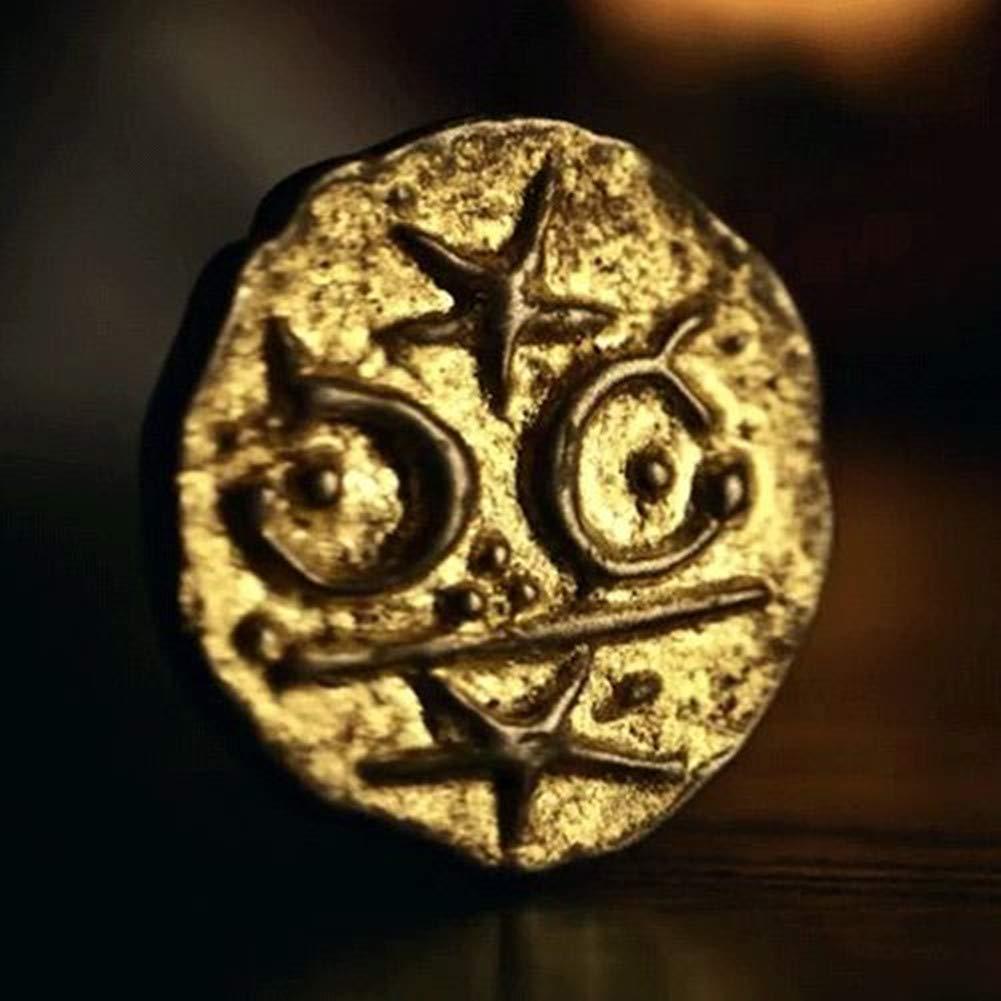 Mad Sweeny Cosplay Accessoire D/éguisement Pi/èce dOr Monnaie Tr/ésor Chanceuse Lucky Coin 3.5cm Zin Alliage Cun/éiforme Ancien Myst/érieux American Gods