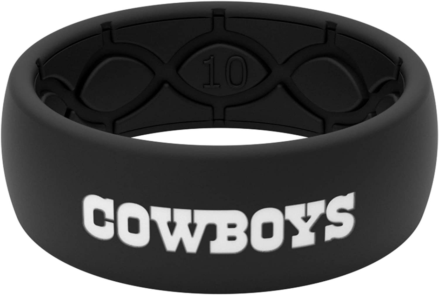 Groove Life Silicone Wedding Ring for Men Breathable Rubber Rings for Men Lifetime Coverage Unique Design Original NFL Comfort Fit Mens Ring