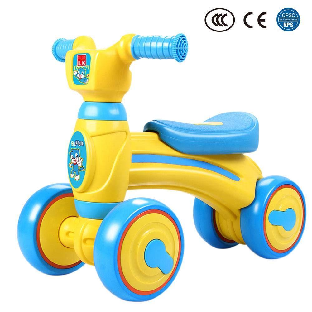 Big-time Baby Balance Bike, Mini Bike, Safe Sliding Bike Sliding Walking Learning Bike with 4 Wheels for 1-3 Years Old Girl Boy,Birthday Gift