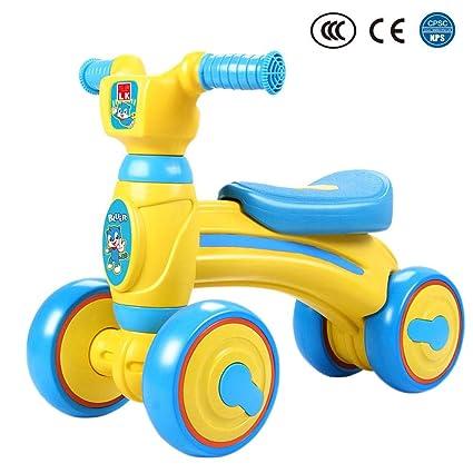 Bebé de 1-3 años Balance Coche de equilibrio infantil Bicicleta de cuatro ruedas Andador