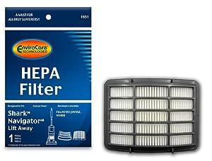 EnviroCare Replacement Vacuum Filters for Shark Navigator Lift-Away NV350, NV351, NV352, NV355, NV356, NV356E, NV357 Uprights