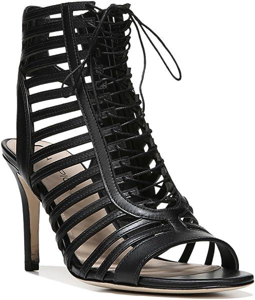 5aee2267a3 Via Spiga Womens Valena Leather Caged Heels Black 6 Medium (B