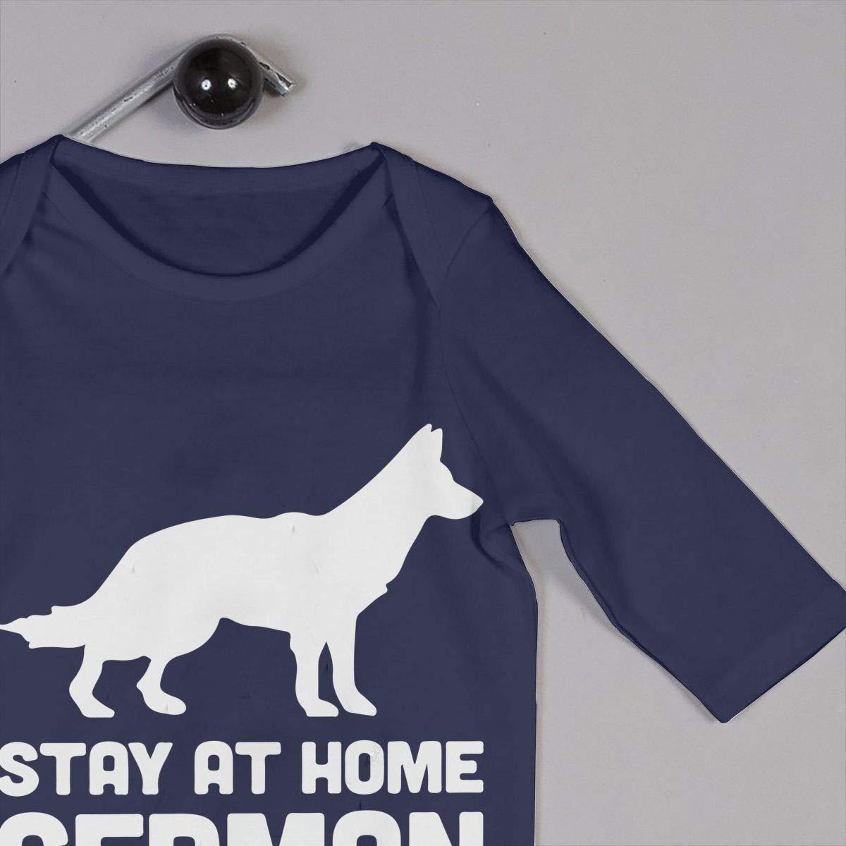 Baby Girl Organic Coverall German Shepherd-Stay at Home Dog Mom Kid Pajamas