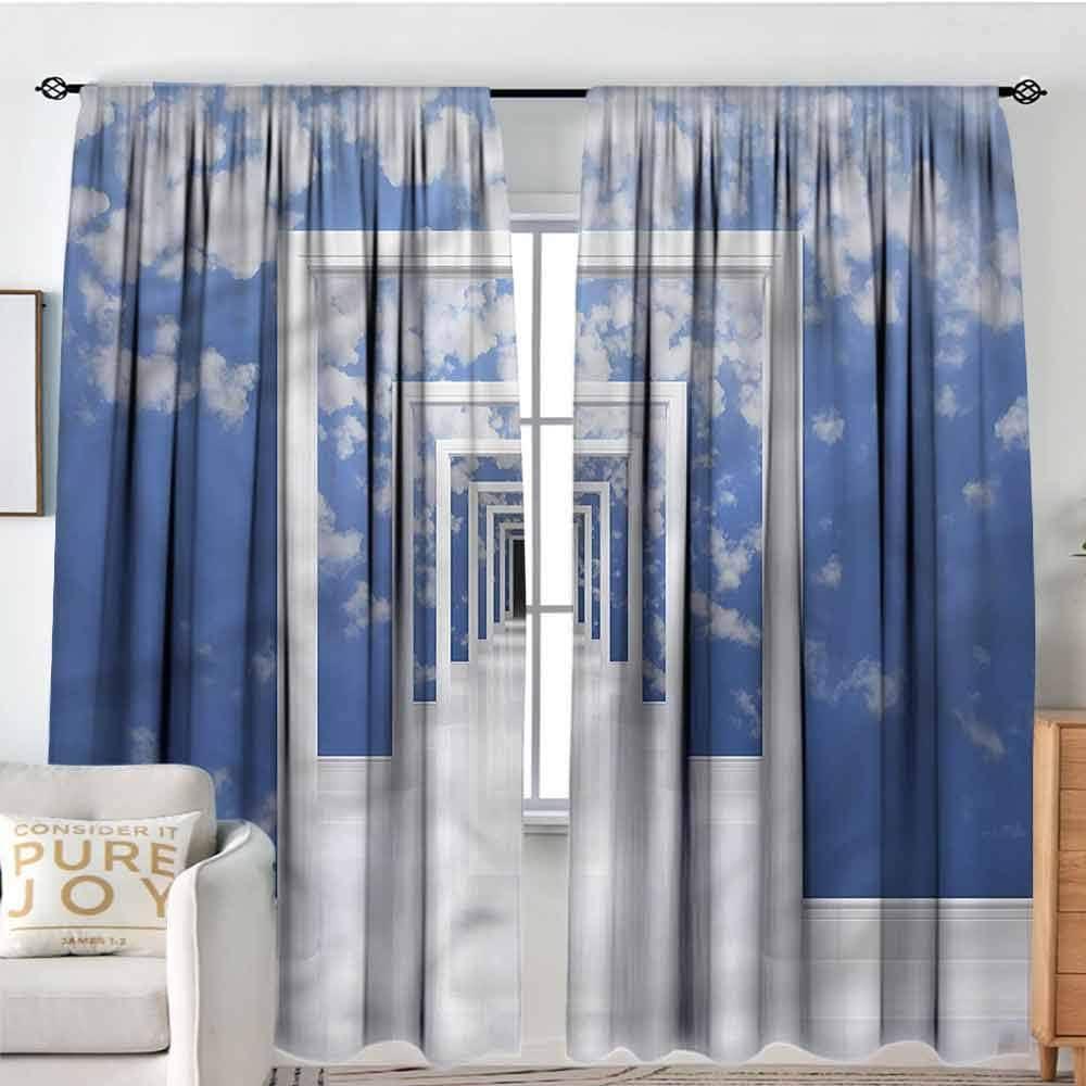 Cortinas para dormitorio paneles de cortina para sala de estar, ventana, juego de cortinas de cocina, 2 paneles, dobladillos para barra, cortina de ventana para puerta corredera, puerta de cristal, sala de