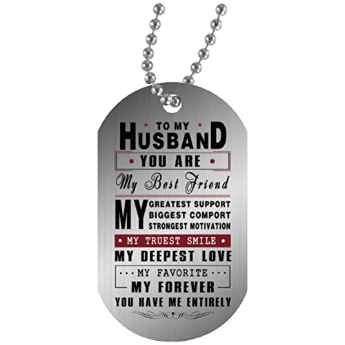 To My Boyfriend Husband Dog Tag Necklace Chain