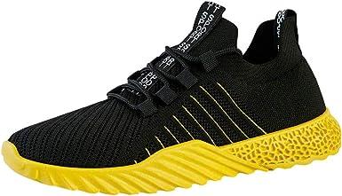 JiaMeng Zapatillas Deporte Hombre Zapatos para Correr Athletic Zapatillas de Deporte Transpirables de Malla Hueca Zapatillas Antideslizantes Resistentes al Desgaste: Amazon.es: Ropa y accesorios