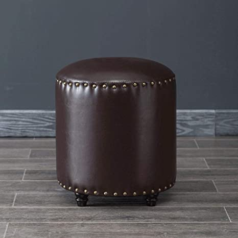 LCTCDY Reposapiés de Cuero Artificial Redondo Muebles de ...
