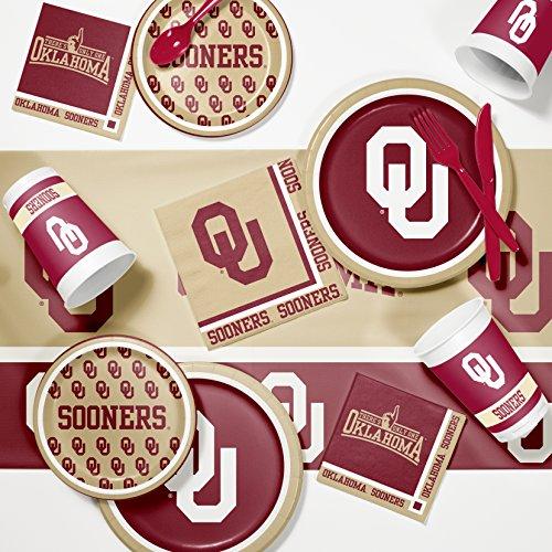 Party Kit Ncaa (University of Oklahoma Game Day Party Supplies Kit)