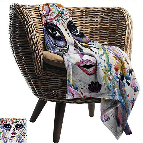 EwaskyOnline Sugar Skull Sofa Cushion Halloween Girl with