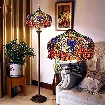 toym uk european senior stained glass tiffany lamps cafe retro living room floor lamp bedroom. Black Bedroom Furniture Sets. Home Design Ideas