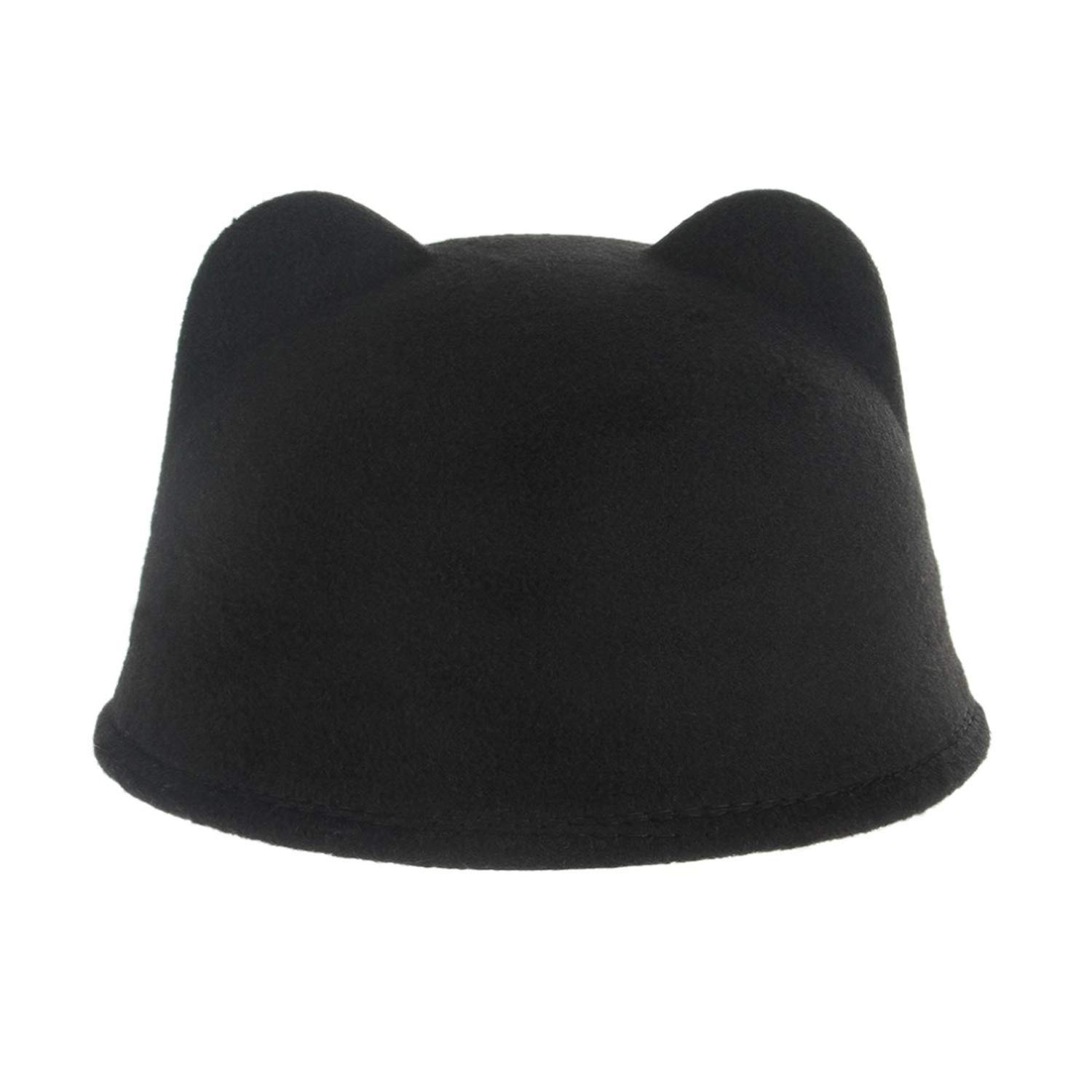 Baby Wool Knight Fedora Hats Cute Cat Caps Kids Girl Boy Autumn Winter Casual Apparel Accessories Hat