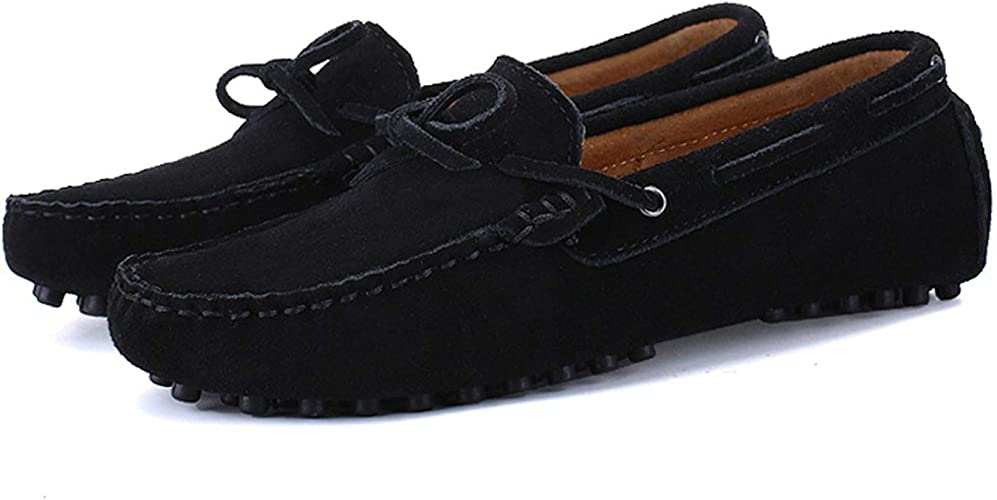 Mens Driving Shoes Cowhide Moccasins Slip On Loafers Shoes Flats Boats Shoes new