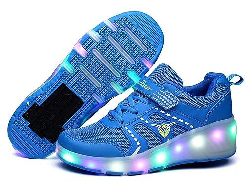 Unisex Led Luz Automática de Skate Zapatillas con Ruedas Los Zapatos con Ruedas LED para Patines