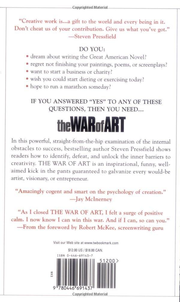 War Of Art Steven Pressfield Pdf