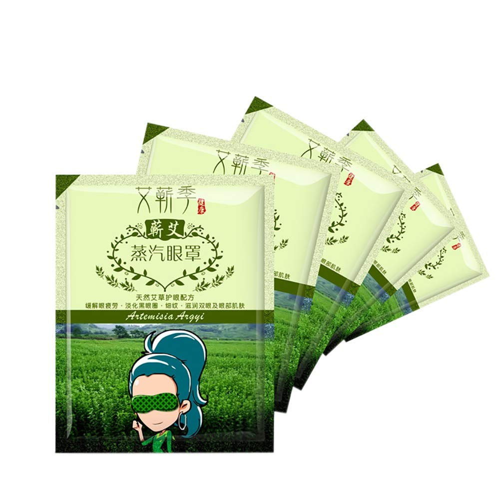 5 Pcs Lavender Oil Steam Eye Mask Remove Dark Circle Eye Bags Eliminate Puffiness Eyes Fine Line Anti Wrinkles Anti Aging Steam Blindfold Sleep Relieve Eye Fatigue Sleeping Fever Eliminate Swollen (A5-No fragrance) Cocohot