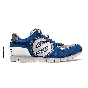 Sparco S00122848BMBI Genesis L Zapatillas, Azul/Blanco, 48: Amazon.es: Coche y moto