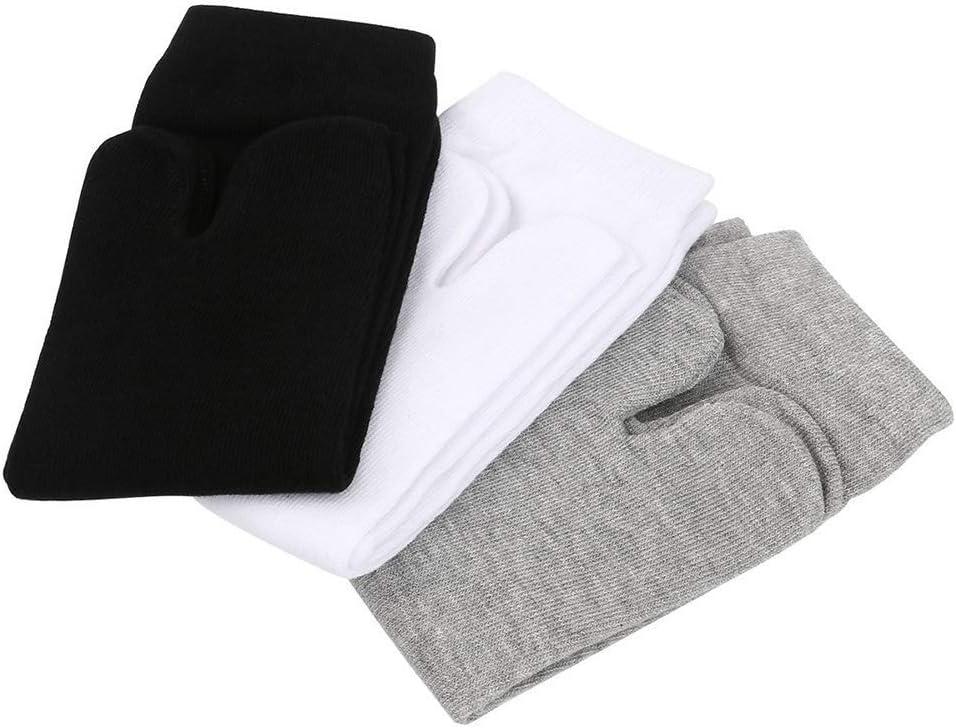 Amazon.com: Huaheng 3Pairs Socks Men Women Kimono Flip Flop ...