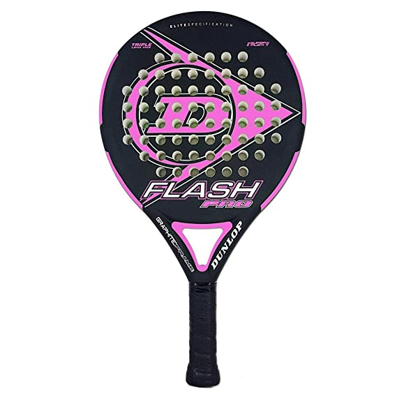 Dunlop FLASH PRO - Pala de pádel 38mm, 2018, nivel iniciación, color amarillo: Amazon.es: Deportes y aire libre