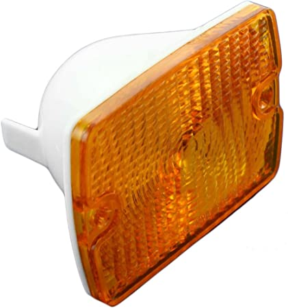 Pair Park Signal Lights for 87-93 Jeep Wrangler Front Marker Lamps Set 56001378