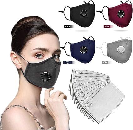 Image ofLazzgirl Reutilizable y Lavable con Carbón Activado Filtro Antipolvo Antivaho Actividades al aire libre Pack 4 unidades + 10 unidades Almohadill