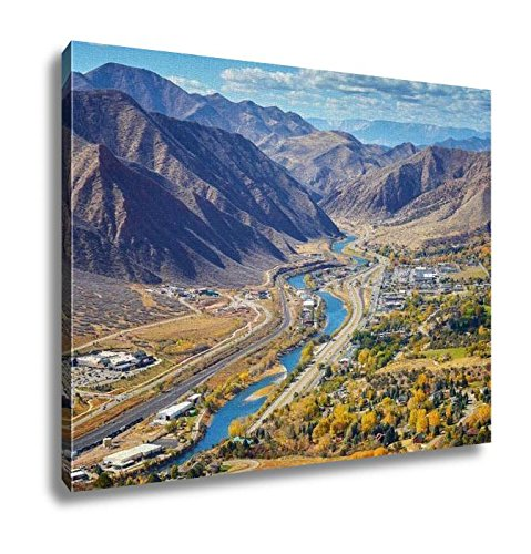 Ashley Canvas, Aerial Picture Of Glenwood Springs Valley In Colorado, Kitchen Bedroom Dining Living Room Art, 24x30, AG6368113