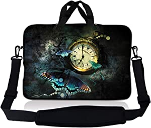 LSS 10 10.2 inch Laptop Sleeve Bag Compatible with Acer, Asus, Dell, HP, Sony, MacBook and more | Carrying Case Pouch w/ Handle & Adjustable Shoulder Strap