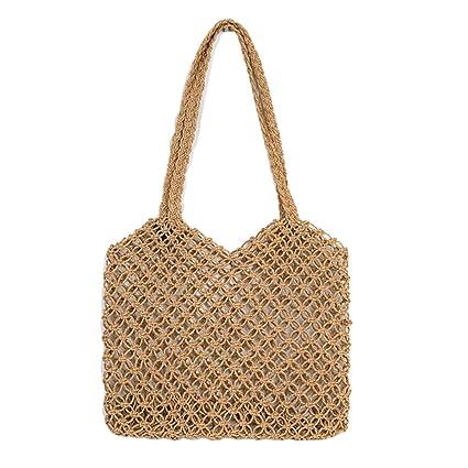 51f5382b5bd6 Amazon.com: SHZONS Bamboo Handbag, Bohemian Beach Purse Bag Half ...
