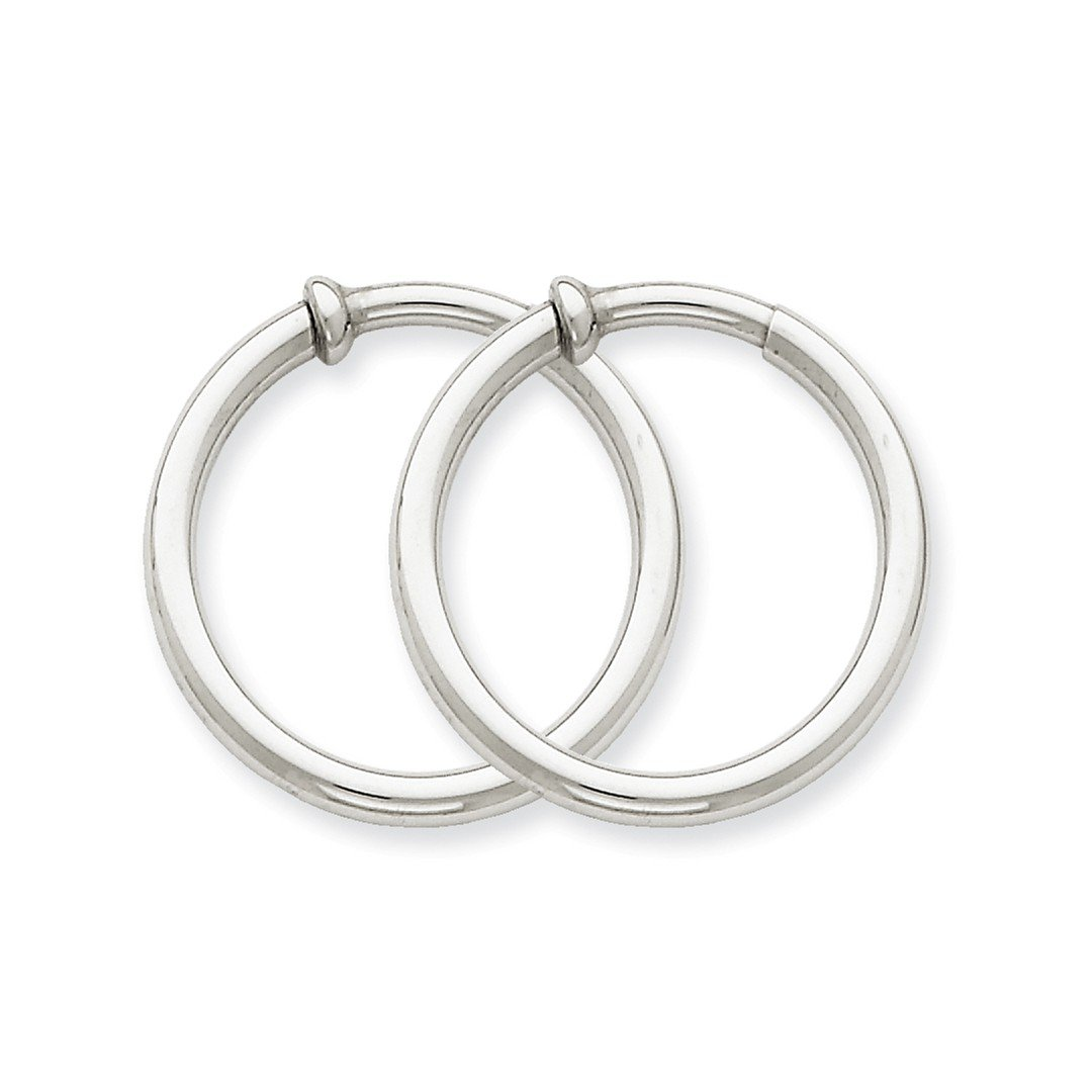 ICE CARATS 14k White Gold Non Pierced Clip On Earrings Hoops Hoop Ear Sets Fine Jewelry Ideal Mothers Day Gifts For Mom Women Gift Set From Heart