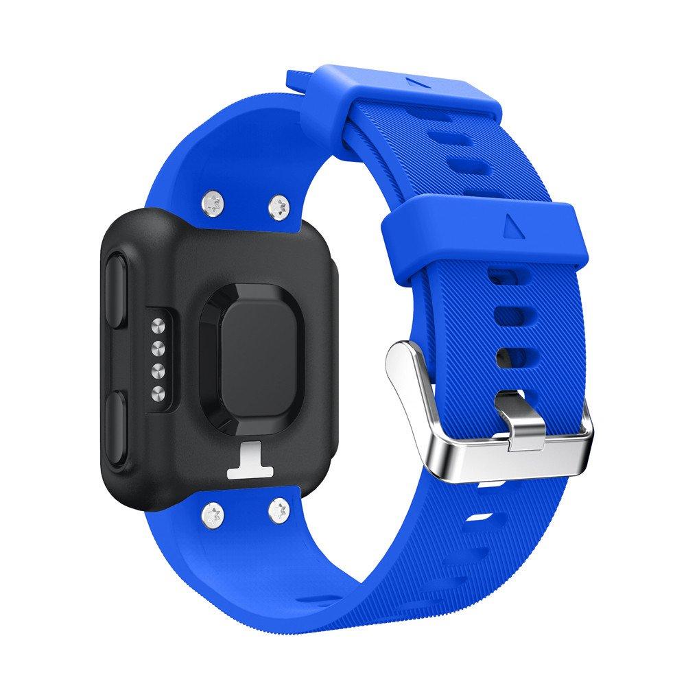 JiaMeng Silicona Banda de Reemplazo Reloj Correa de muñeca de Repuesto Silicagel Correa de Banda Suave para Garmin Forerunner 35(Azul): Amazon.es: Ropa y ...