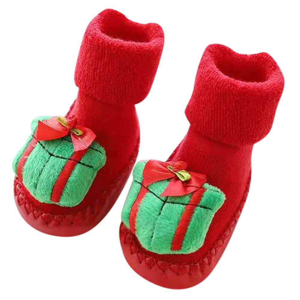 Amazon.com: Baby Boys Girls Christmas Floor Socks Newborn Anti-Slip Baby Step Socks: Clothing