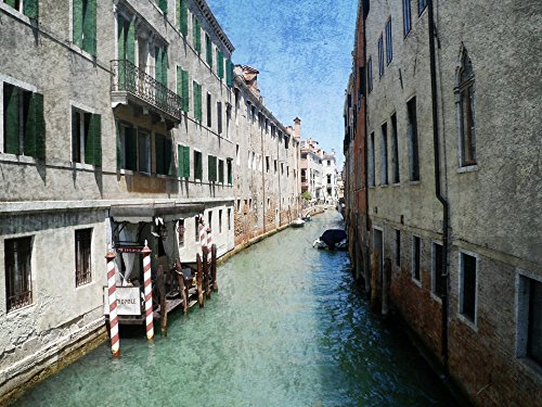 (Home Comforts LAMINATED POSTER Postcard Antique Channel Alley Venice Old Poster 24x16 Adhesive Decal)