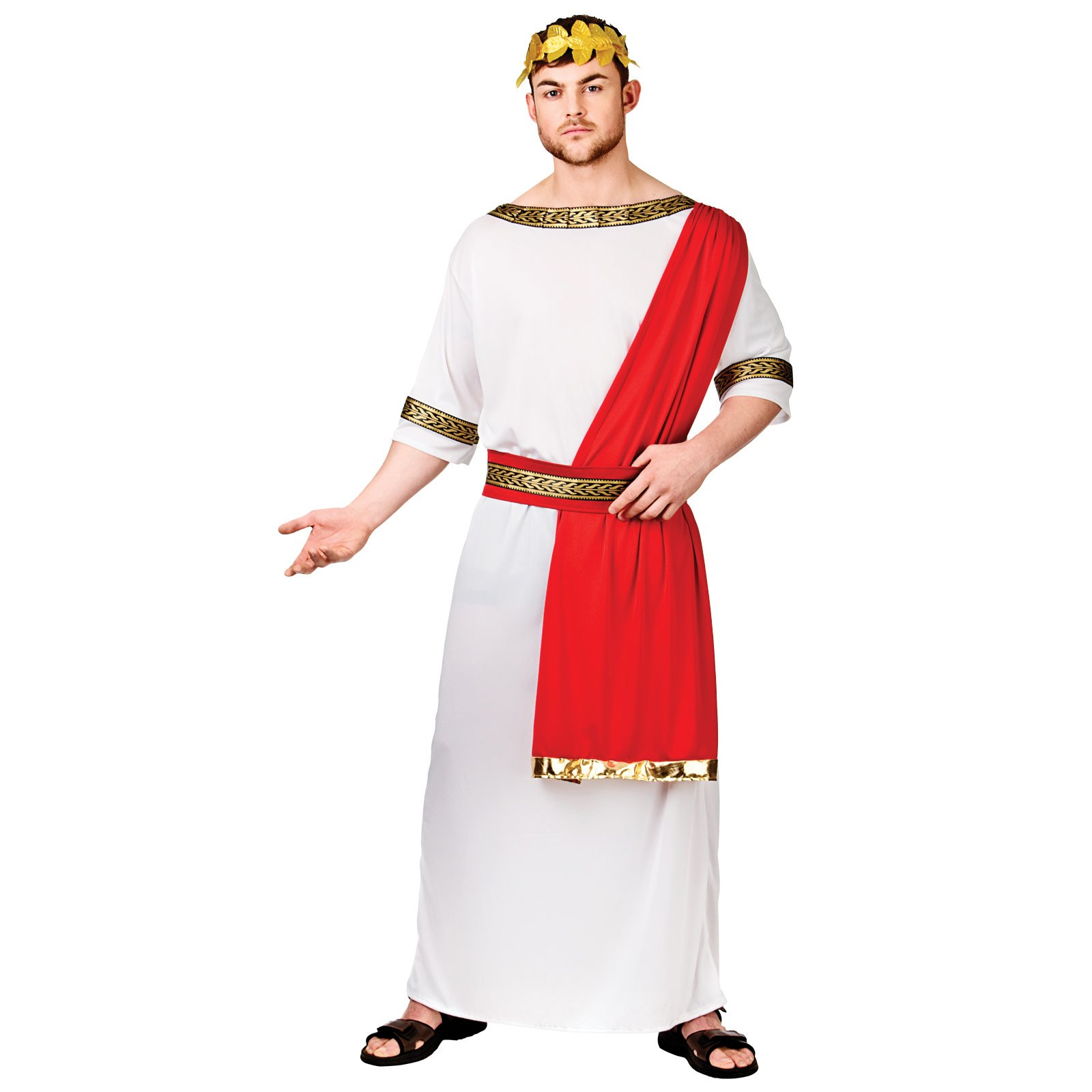 Adults Mens Roman Emperor Fancy Dress Up Party Halloween Costume Outfit New  sc 1 st  Amazon UK & Roman Fancy Dress: Amazon.co.uk