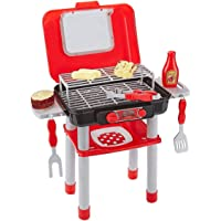 Think Gizmos Portable Mini Play BBQ Grill Set for Kids TG712, Fun BBQ Toddler Play Set for Boys & Girls Aged 3 4 5 6+