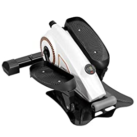 Gymax Goplus Portable Under Desk Elliptical Stepper