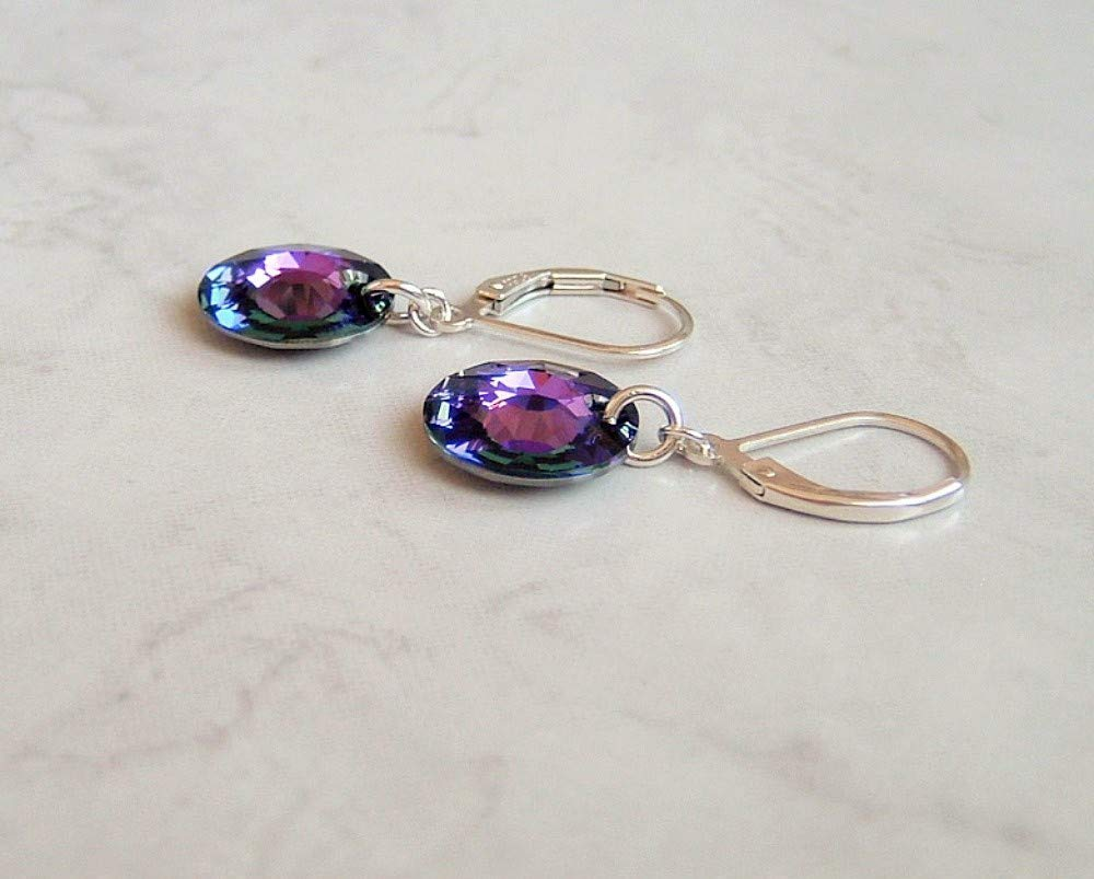 Purple Peridot Double Strand Stone Rivulet Necklaces