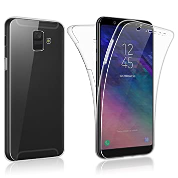 brand new 8d8c2 f0366 SDTEK Case for Samsung Galaxy A6 2018 Full Body Protection 360 Gel Cover  Clear Transparent Soft Silicone
