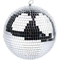 Disco Mirror Ball Silver Hanging Balls for Disco DJ Light Effect Party Home Decoration Club Stage Props School Bands…