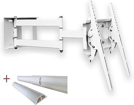 Soporte de pared de (blanco) TV Colour Blanco Universal Schwenkbar Neigbar Plasma LCD LED Wandhalter TV