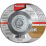Makita A-95984-5 36 Grit INOX Grinding Wheel (Pack of 5), 4-1/2'' x 1/4'' x 5/8''-11