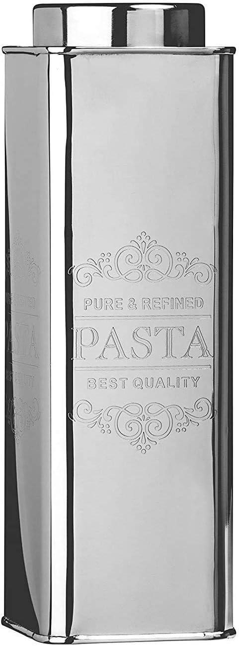 27,9 cm Kosma Spaghetti-Pasta-Vorratsdose aus Edelstahl Silber-Finish